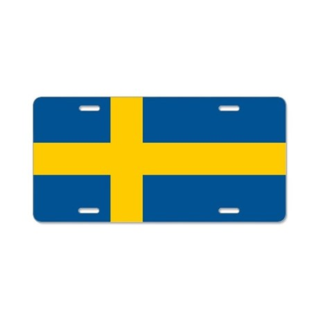 Flag of Sweden Aluminum License Plate