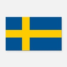 Flag of Sweden Rectangle Car Magnet