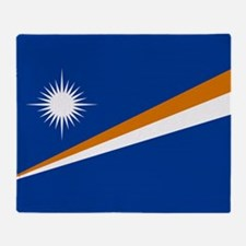 Marshall Islands Flag Throw Blanket