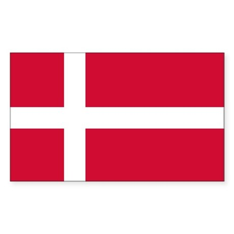 Flag of Denmark Sticker (Rectangle)