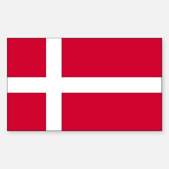 Flag of Denmark Sticker (Rectangle)