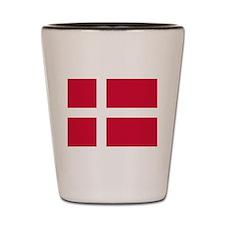 Flag of Denmark Shot Glass