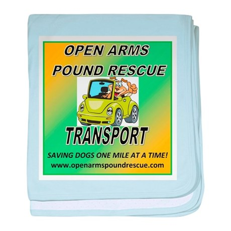 OPEN ARMS POUND RESCUE TRANSPORT baby blanket