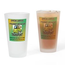 OPEN ARMS POUND RESCUE TRANSPORT Drinking Glass