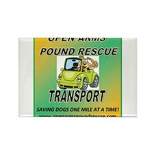 OPEN ARMS POUND RESCUE TRANSPORT Rectangle Magnet