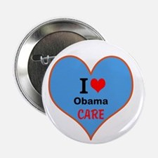 "I (heart) ObamaCare 2.25"" Button"
