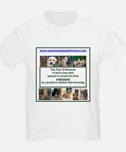 OPEN ARMS POUND RESCUE SPAY OR NEUTER T-Shirt