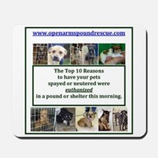 OPEN ARMS POUND RESCUE SPAY OR NEUTER Mousepad
