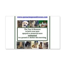 OPEN ARMS POUND RESCUE SPAY OR NEUTER Wall Decal