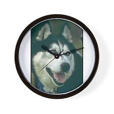 Siberian Husky Photo Wall Clock