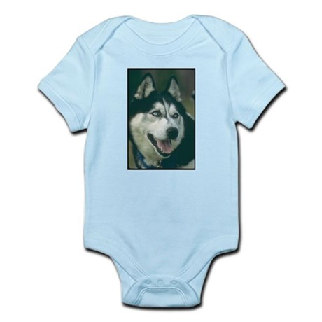 Siberian Husky Photo Infant Creeper