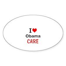 I (heart) Obama Care Decal