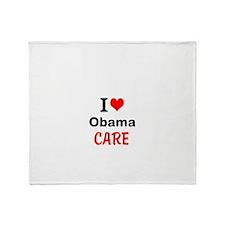 I (heart) Obama Care Throw Blanket