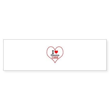 I (heart) Obama Care Sticker (Bumper)