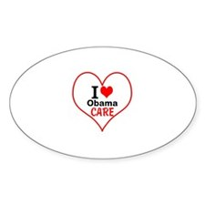 I (heart) Obama Care Decal