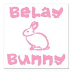 Belay Bunny Square Car Magnet 3