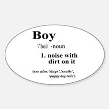 Boy Sticker (Oval)