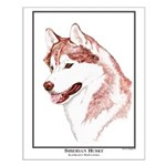 Red Siberian Husky Edition Small Poster