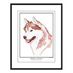 Red Siberian Husky Edition Large Framed Print