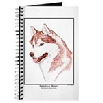 Red Siberian Husky Edition Journal