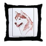 Red Siberian Husky Edition Throw Pillow