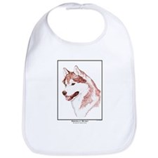 Red Siberian Husky Edition Bib