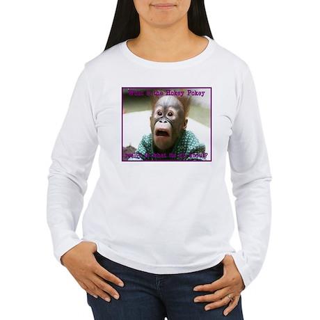 Hokey Pokey Orangutan Women's Long Sleeve T-Shirt