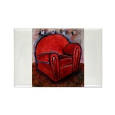 EASY Red by Mick Sharp Rectangle Magnet