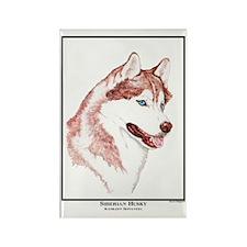 Blue Eye Husky Edition Rectangle Magnet (10 pack)