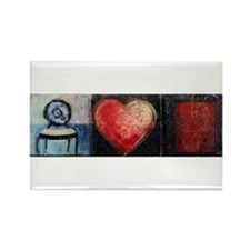 Heart Web by Mick Sharp Rectangle Magnet