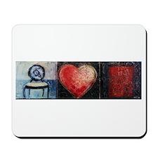 Heart Web by Mick Sharp Mousepad