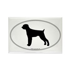 Wirehaired Pointer Silhouette Rectangle Magnet