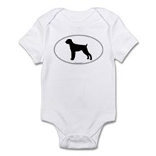 Wirehaired Pointer Silhouette Infant Creeper