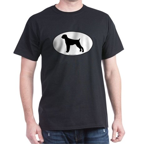 Wirehaired Pointer Silhouette Black T-Shirt