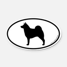 Norwegian Elkhound Oval Car Magnet