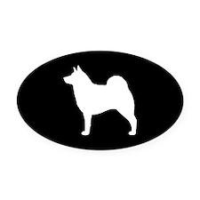 Norwegian Elkhound Oval Car Magnet