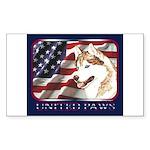 Siberian Husky US Flag Rectangle Sticker