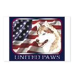 Siberian Husky US Flag Postcards (Package of 8)