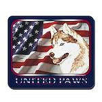 Siberian Husky US Flag Mousepad
