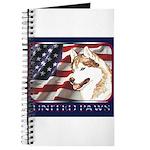 Siberian Husky US Flag Journal