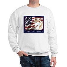 Siberian Husky US Flag Sweatshirt