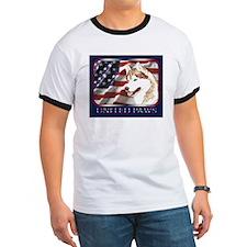 Siberian Husky US Flag T