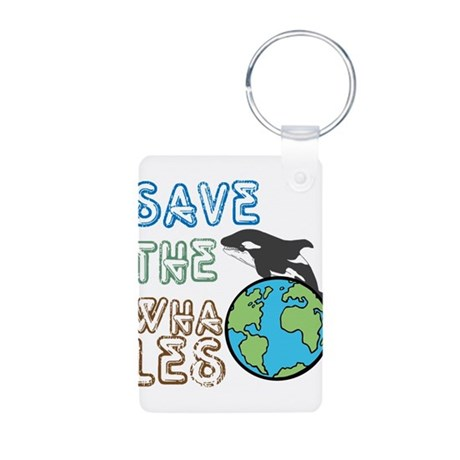 Saves The Whales Aluminum Photo Keychain