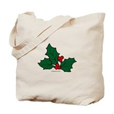 Holly Sprig Tote Bag