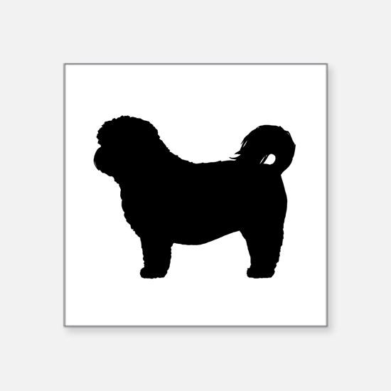 "Shih Tzu Square Sticker 3"" x 3"""