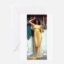 Godward - The Mirror. Greeting Card