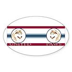 Siberian Husky United Paws Oval Sticker