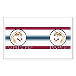 Siberian Husky United Paws Rectangle Sticker
