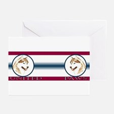 Siberian Husky United Paws Greeting Cards (Package