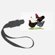 Plymouth Rock Chickens Luggage Tag